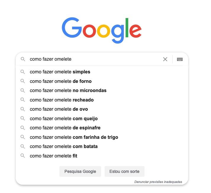 pesquisa no google autocomplete
