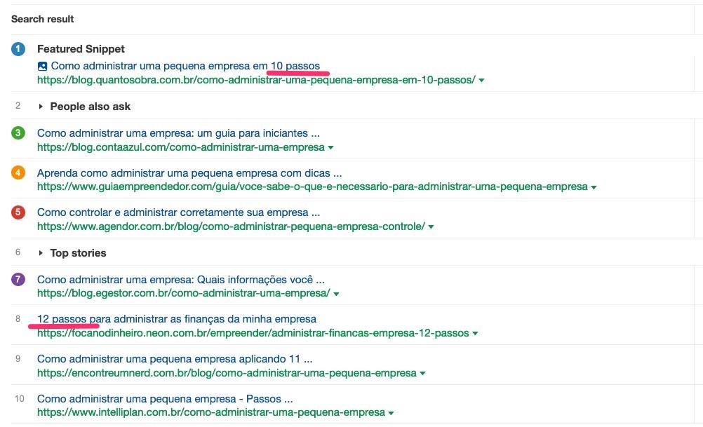 pesquisa no google sobre como administrar uma empresa